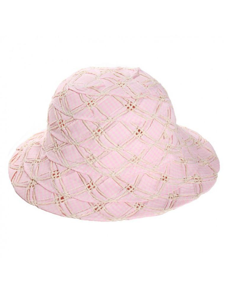 Chapeau paille rose
