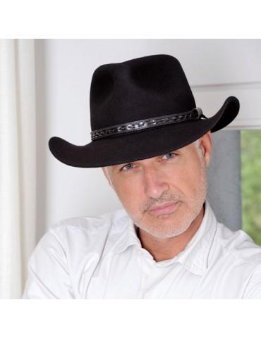 chapeau feutre cowboy coloris noir