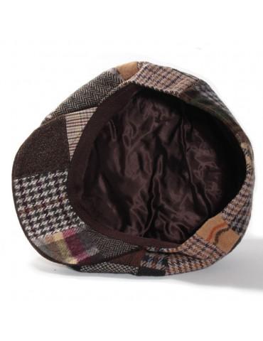 casquette patchwork coloris marron doublée polyester
