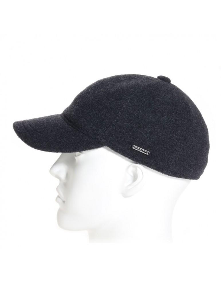 casquette baseball laine grise