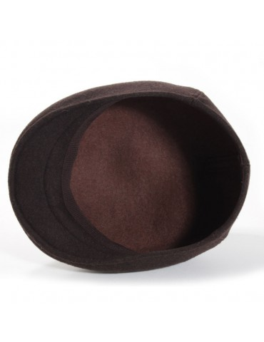 casquette formée laine coloris marron