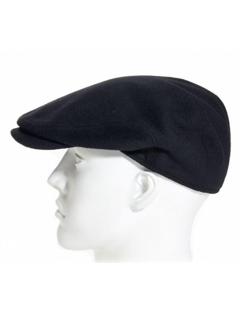 casquette laine vierge et cachemire coloris noir