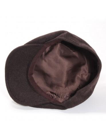 casquette laine vierge et cachemire coloris taupe
