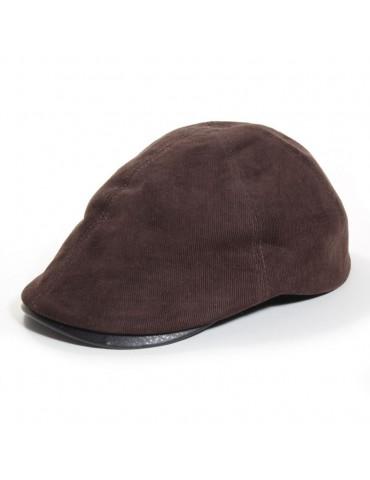 casquette velours marron