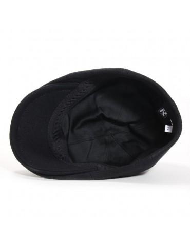 casquette bec de cane coloris noir