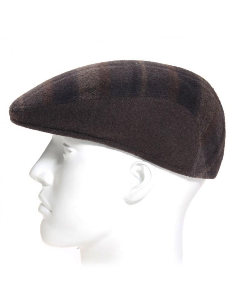 casquette formée laine marron