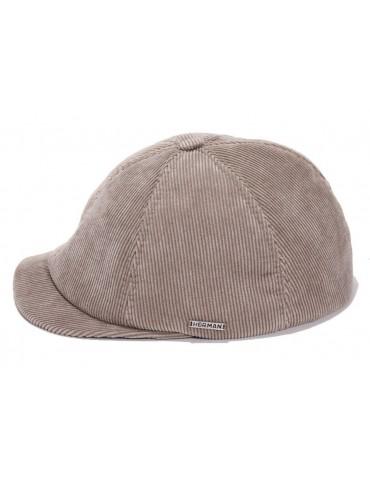 casquette en velours beige