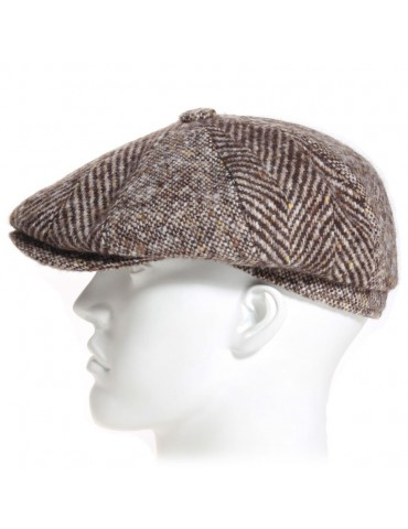 casquette irlandaise laine marron