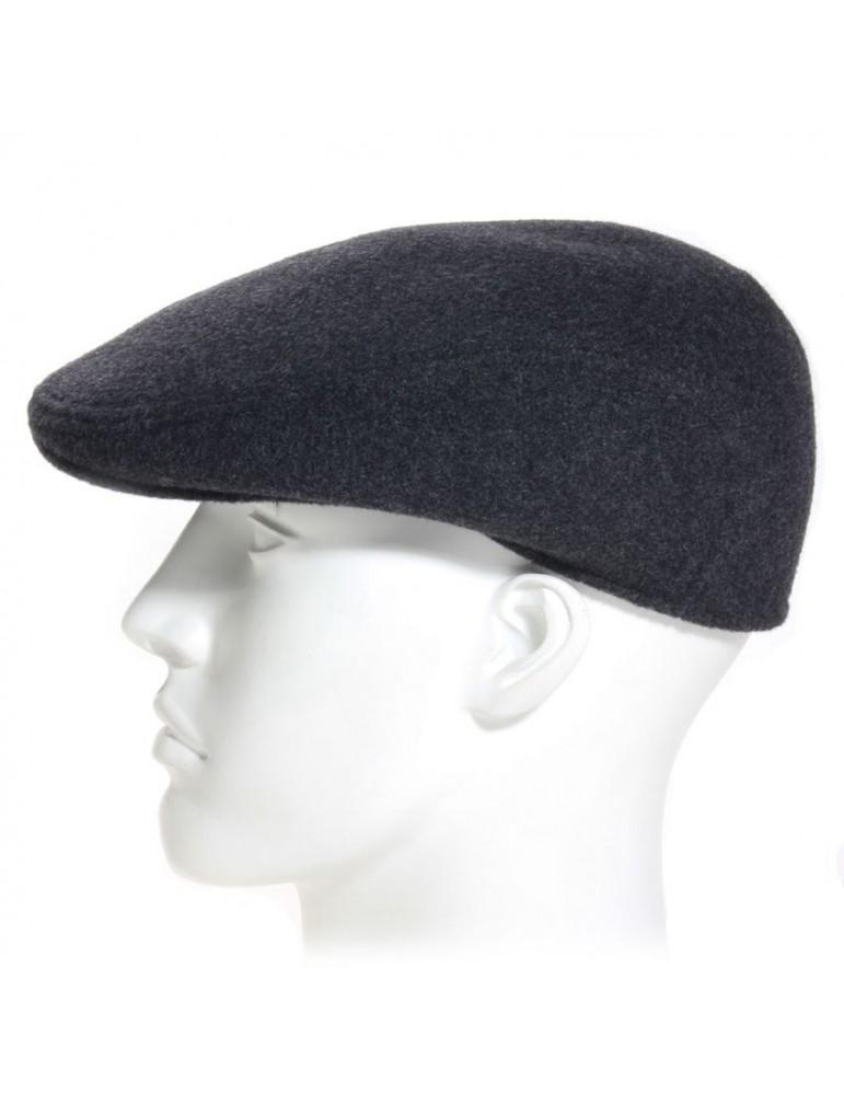 casquette formée en laine coloris gris