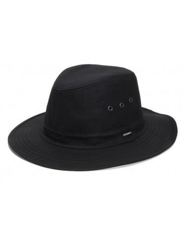 chapeau de pluie coton huilé noir