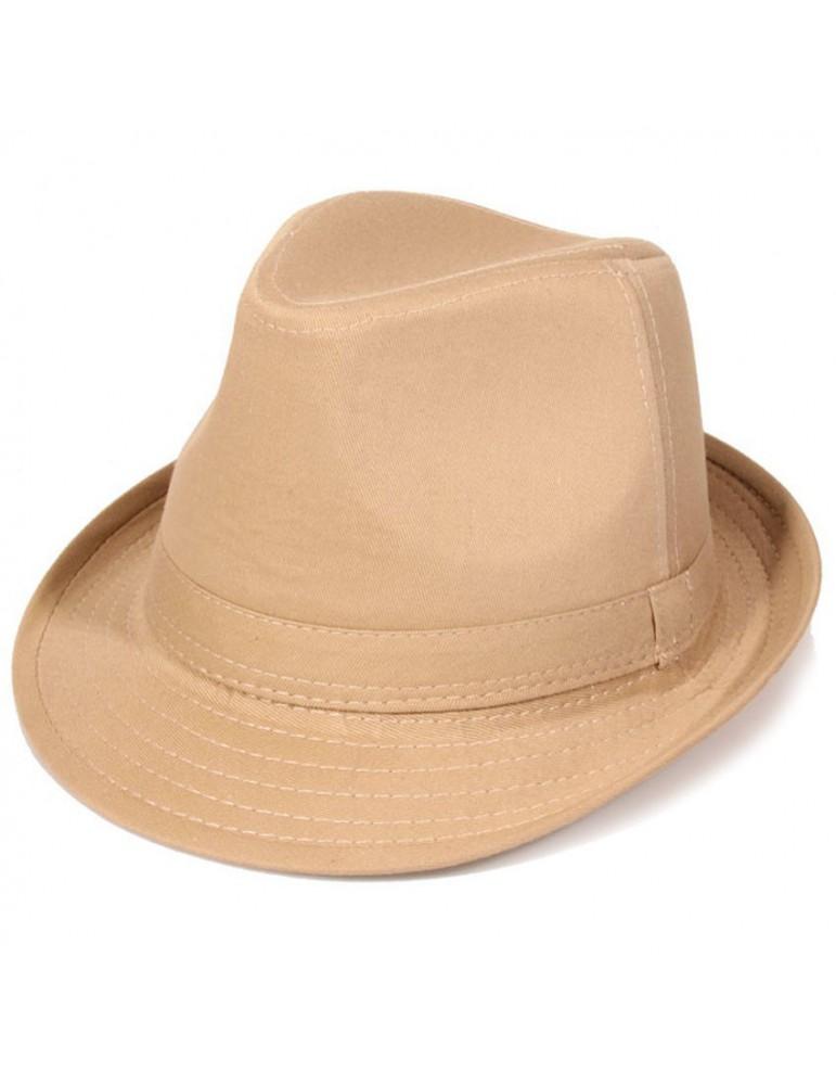 chapeau formé coton beige