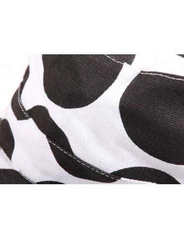 casquette cubaine en coton pois noir