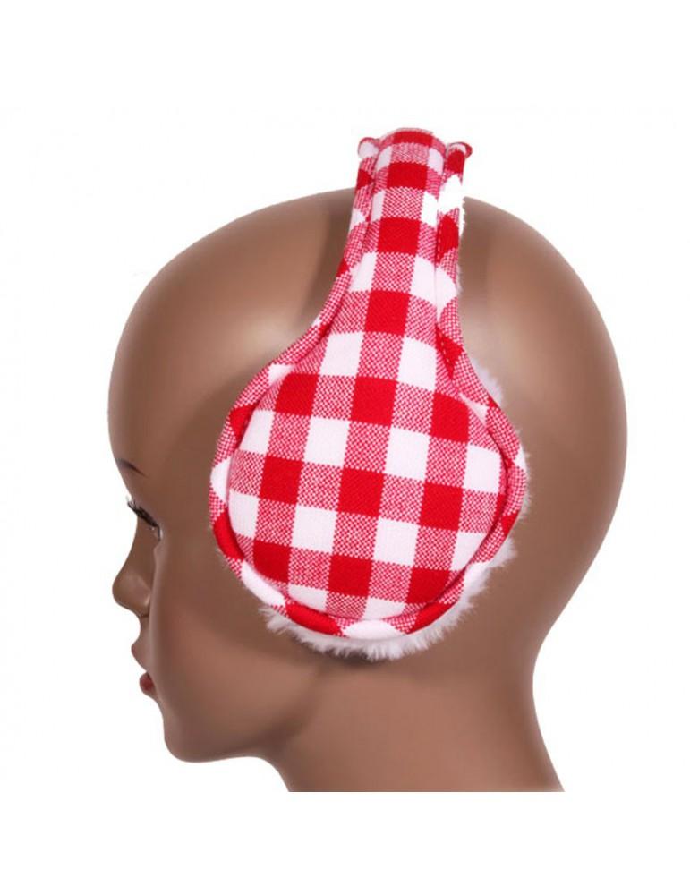 Cache oreilles canadien rouge et blanc