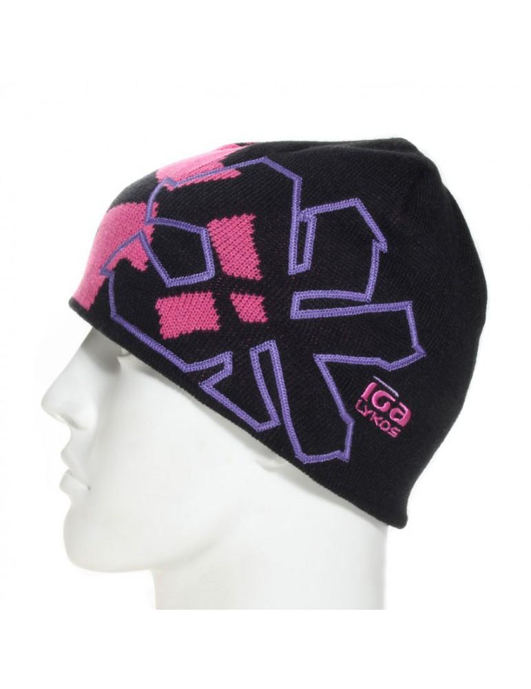 bonnet de ski floqué mauve