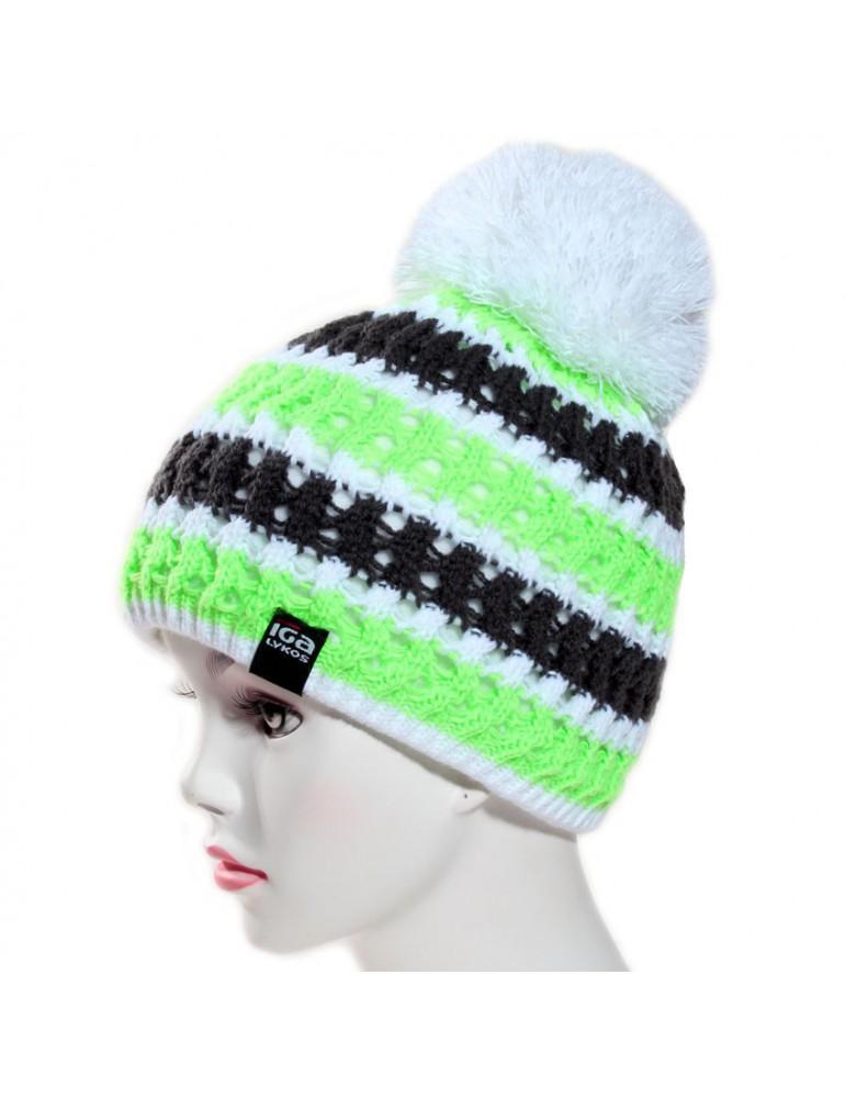 bonnet de ski vert fluo