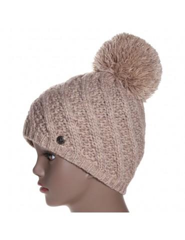 bonnet laine coloris beige