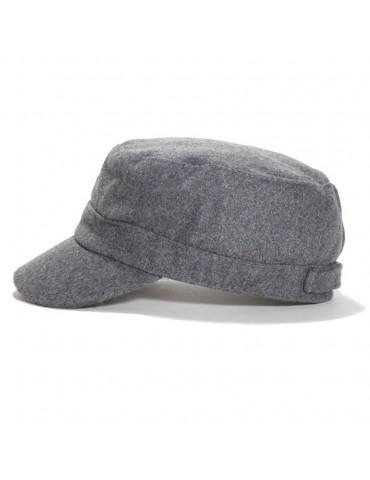 casquette cubaine en laine grise