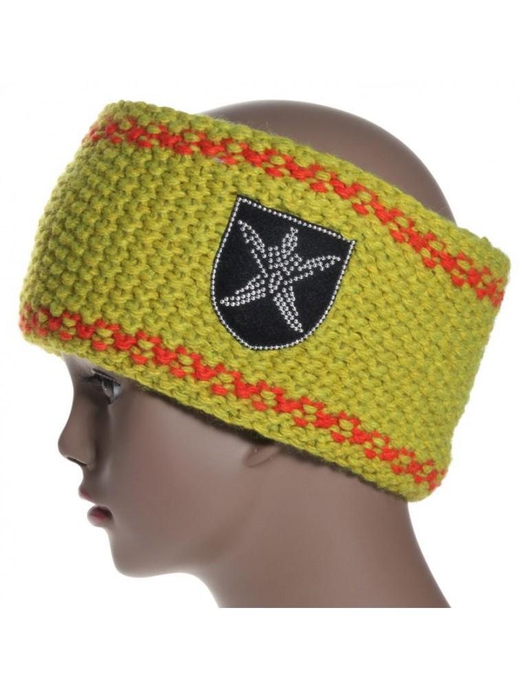 bandeau de ski en laine coloris anis