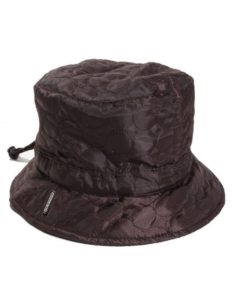 Chapeau bob de pluie marron