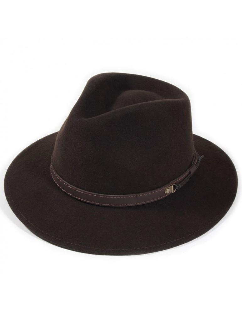 chapeau feutre coloris marron