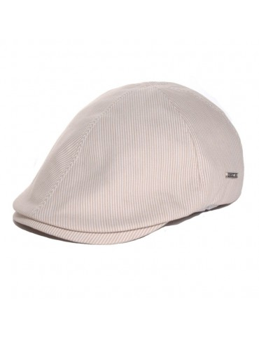 casquette d'été en coton coloris beige