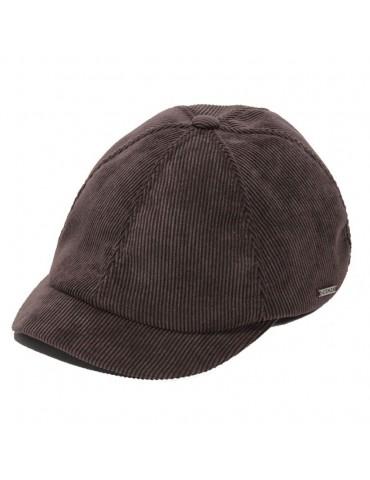 casquette velours coton marron