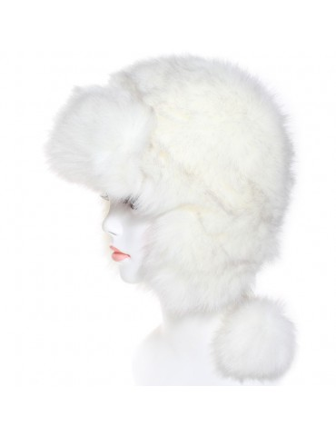 Chapka Arushka white fox