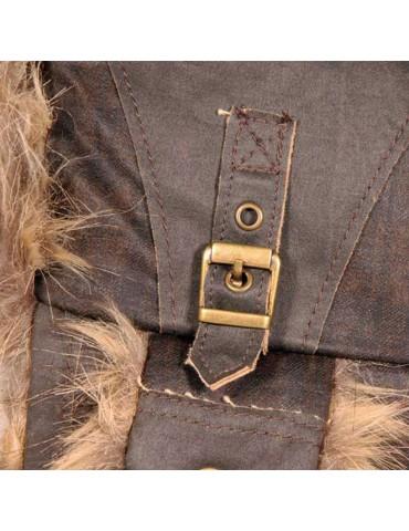 chapka vintage marron pour homme et fausse fourrure