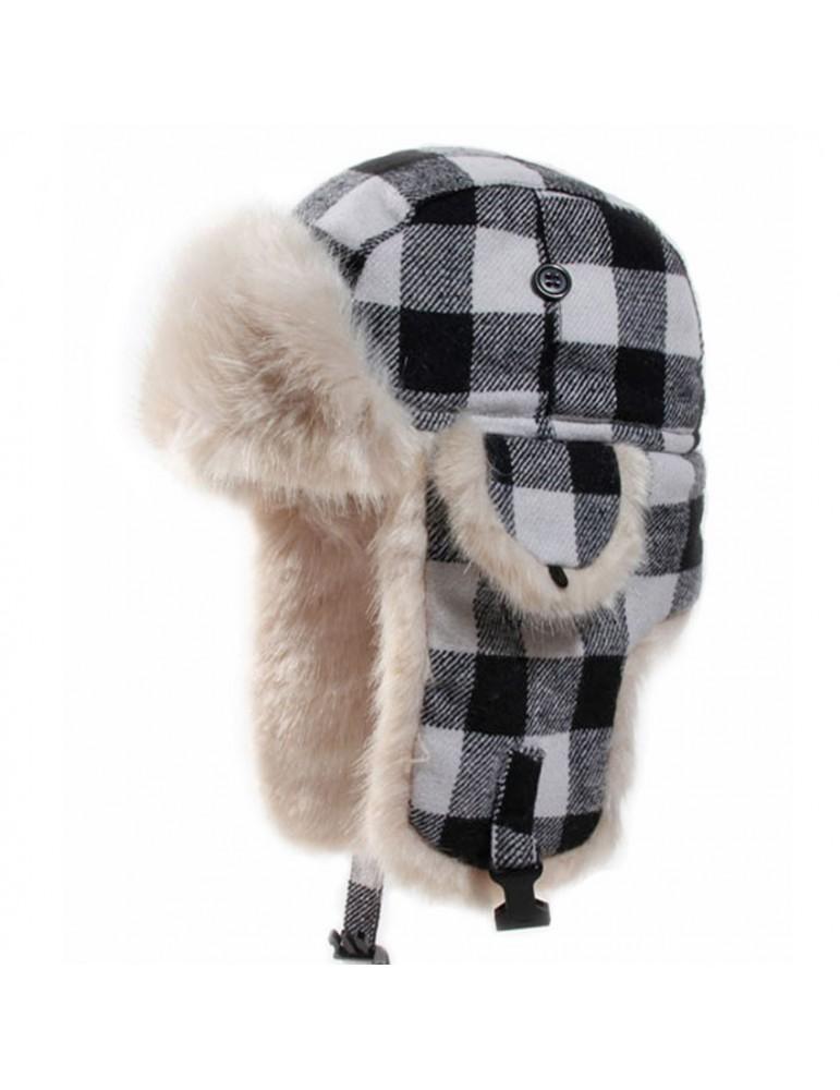 code promo ab732 4dec2 Chapka laine pour garçon Canadien noir - HERMAN - v9065