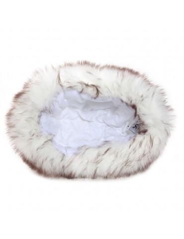 chapka synthétique blanche pour enfant doublée polyester