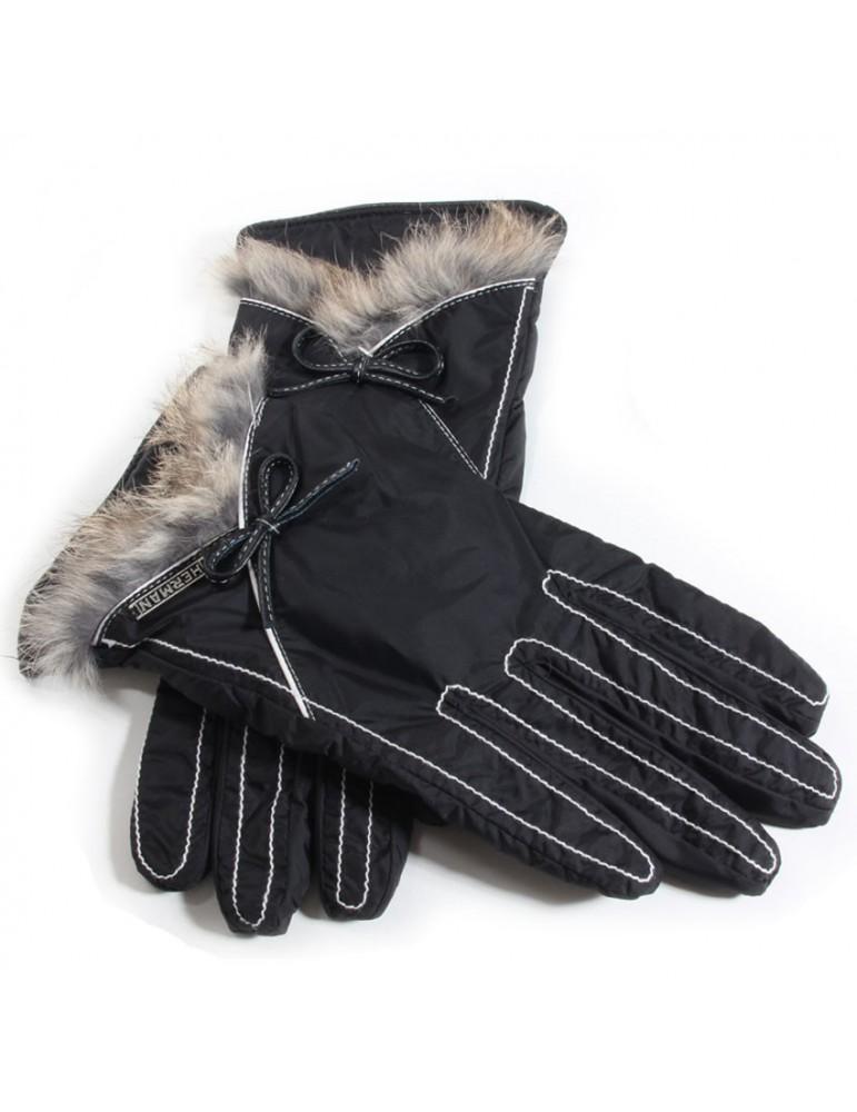 gant femme coloris noir