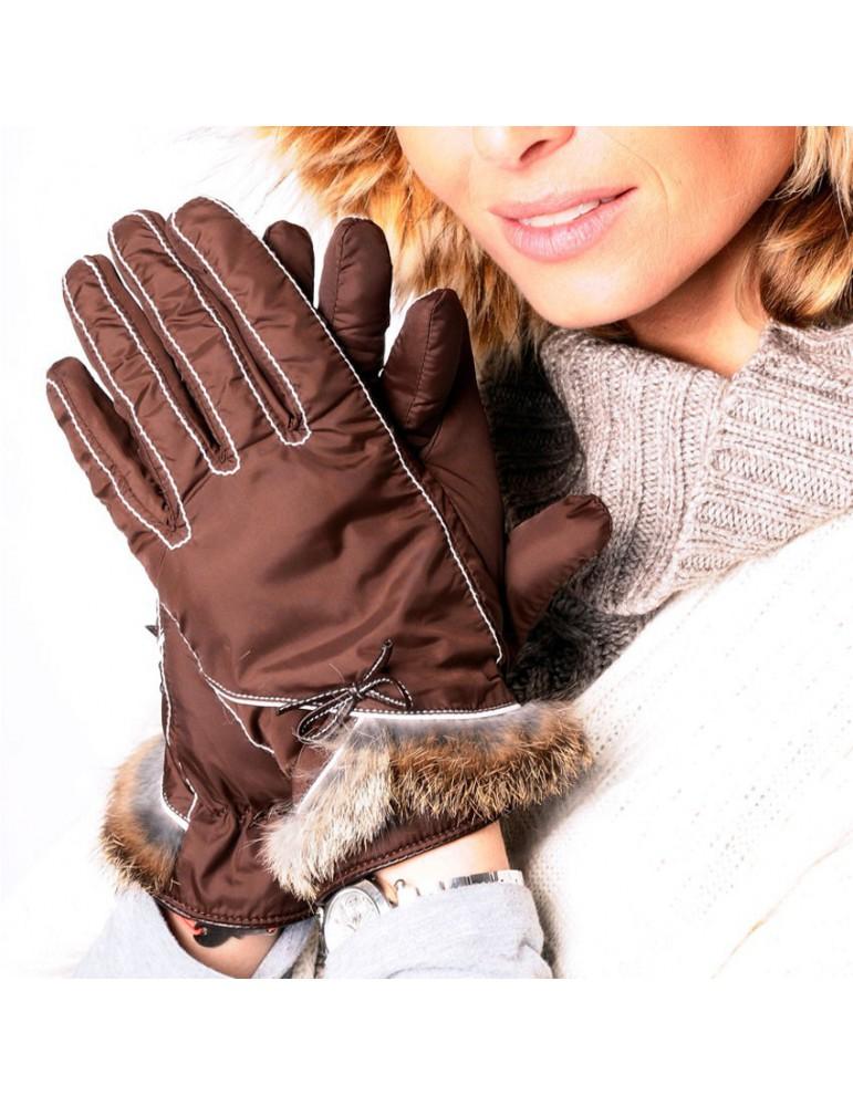 gant marron pour femme