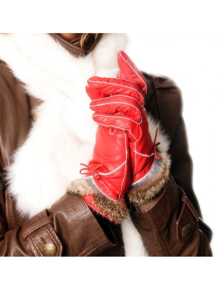 gant pour femme coloris rouge