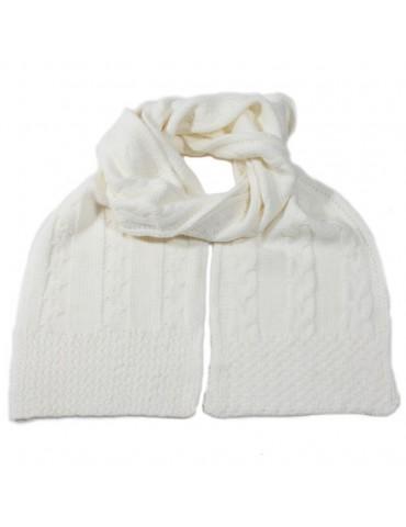 Echarpe tricot écru