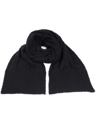 Echarpe tricot noir