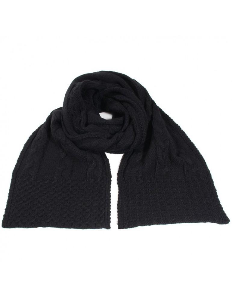 écharpe tricot noir