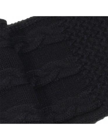 écharpe tricot noir pour homme ou femme