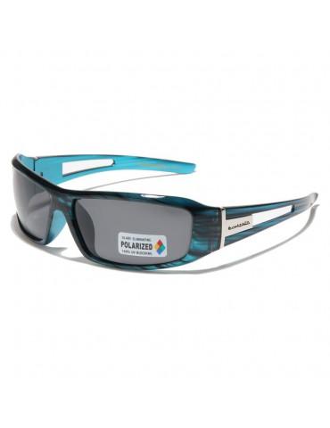 lunette de soleil polarisée monture bleue