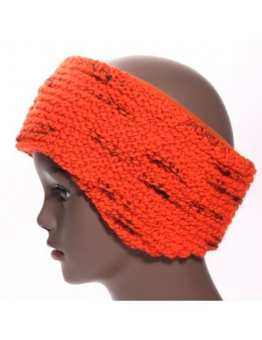bandeau de ski laine mérinos orange