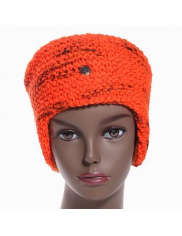 bandeau de ski orange avec forme oreilles