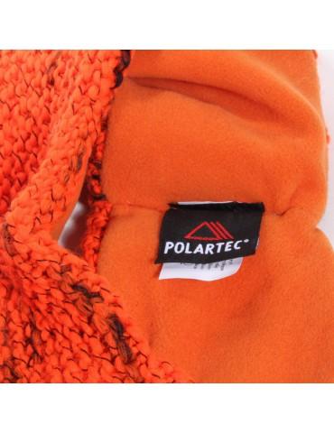 bandeau de ski orange doublé polaire Polartec