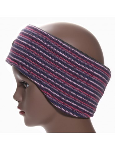 bandeau de ski violet pour femme