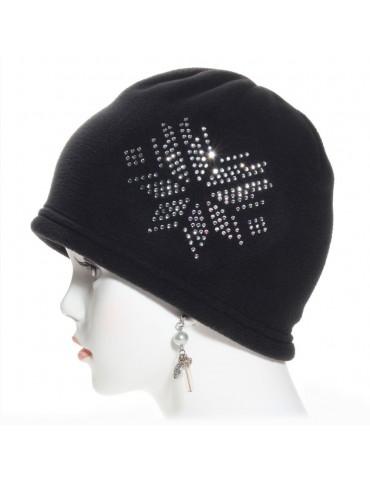 bonnet noir avec strass