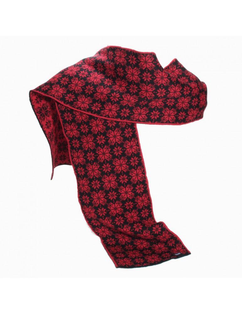 écharpe rouge et noir