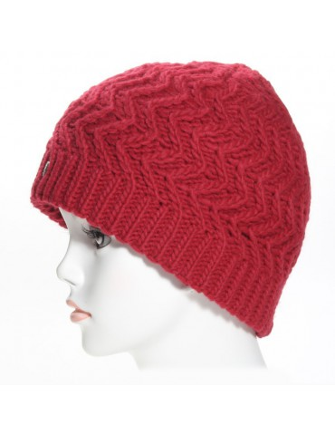 bonnet laine rouge