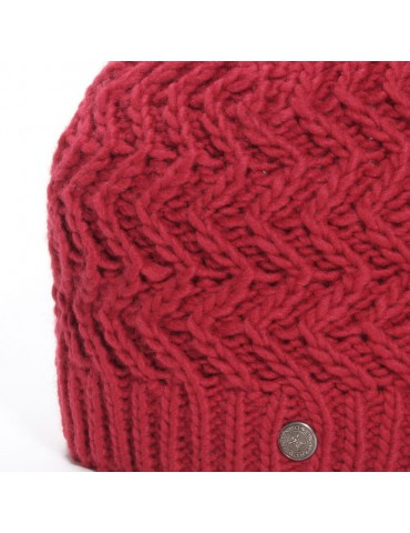 maille tricot rouge