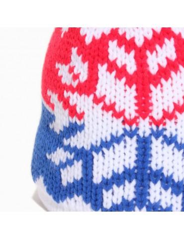 maille laine bleu blanc rouge