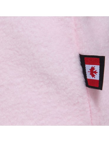 Cagoule polaire femme coloris rose made in Canada