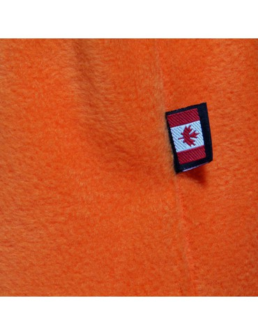 cagoule canadienne polaire orange made in Canada