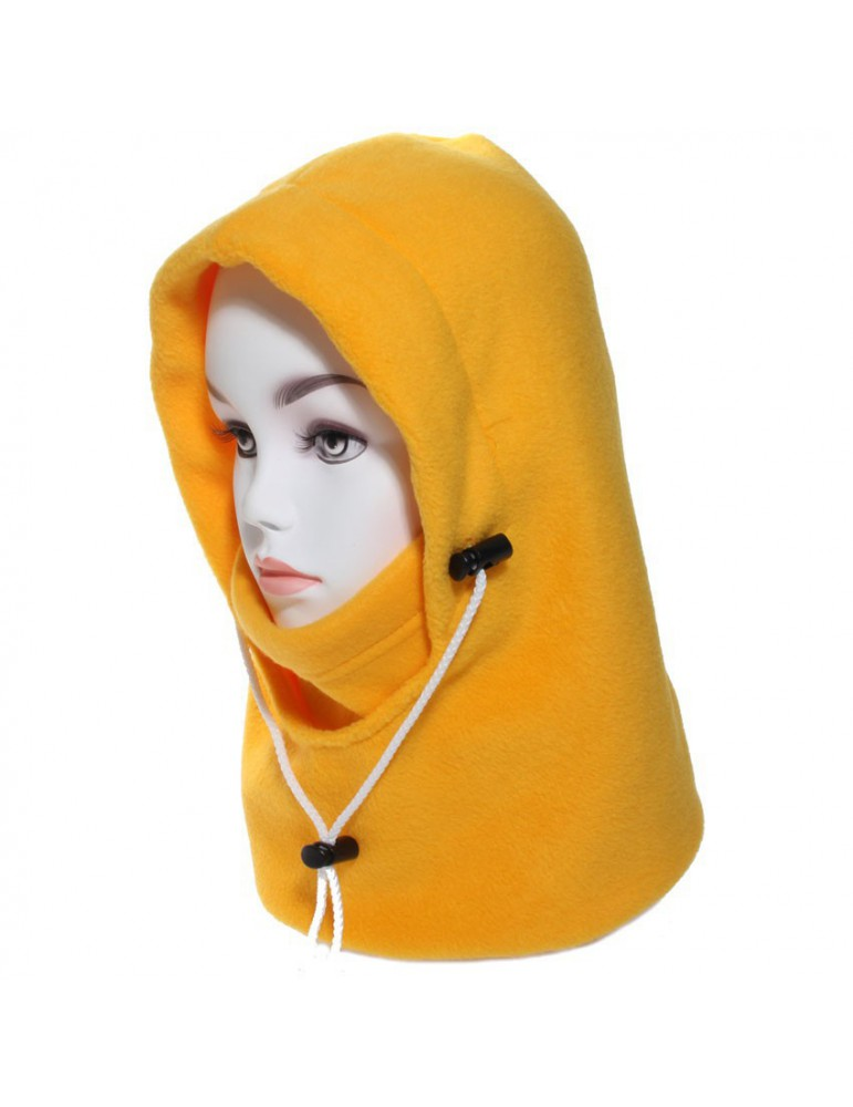 Cagoule polaire femme coloris jaune